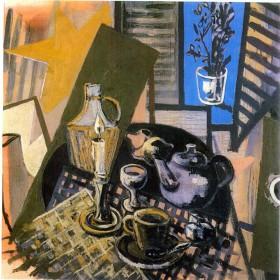 """""""Bodegón"""" 130 x 130 cm.  Óleo sobre tela. 1988"""