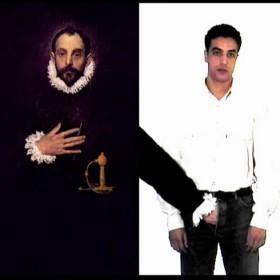 """""""La mano siniestra""""   Instalación que consta de 2 videos de 1 minuto y 45 segundos en bucle. 2002"""