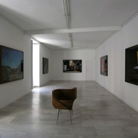 "Partial view from Tim Parchikov's ""Suspense"" exhibition at Juana de Aizpuru gallery."