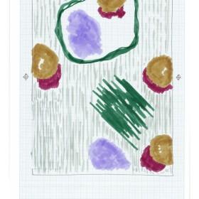 """Antarès"" 194 x 149 cm. Ink on plexiglass with steel brackets Ed. 1/1 + 1 A.P. 2013"