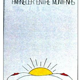 """""""A Barbara le gusta ver amanecer entre montañas""""  65 x 46 cm. Acrilico sobre tela. 1997."""
