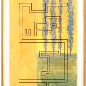 """Landscape"" - 119 x 80 cm - mixed on paper - 1990"