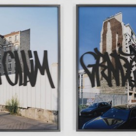 """Blind Walls"" - Dypthic 120 x 91 cm. each - C-Print, graffiti over methacrylate- 2007"