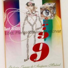"""""""Lord, El susurrador de caballos, el Anticristo"""" 220 x 170 cm. Collage hecho en ordenador. Pieza Única. 1999"""