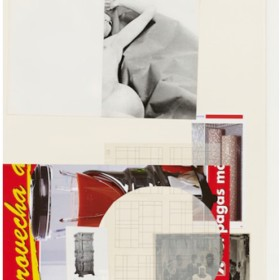 """ALBERT OEHLEN. """"SIN TITULO"""". 100 x 70 cm. Collage sobre papel, enmarcado/ Collage on paper, framed. 2009"""