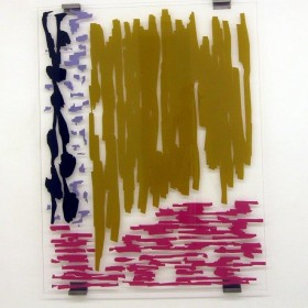"""""""Dandelion"""" 194 x 149 cm. Pintura sobre metacrilato con soportes metálicos Ed. 1/1 + 1 A.P. 2013"""