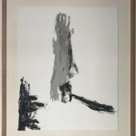 PEDRO CABRITA REIS.  SIN TITULO/ UNTITLED 80 x 65 cm. Pintura sobre papel, enmarcado / Painting on paper, framed. 2017