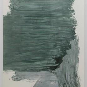 """PEDRO CABRITA REIS  """"Caminando sobre la tierra entre árboles y piedras #12"""" 265 x 163 cm Técnica mixta sobre cartón, enmarcado / Mixed media on cardboard, framed 2017"""