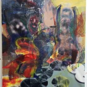 "MARKUS OEHLEN. ""SOUND OF EFFRONTERY"". 120 x 100 cm. Acrílico sobre tela / Acrylic on canvas. 2018"