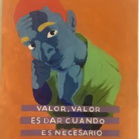 """""""Valor"""", 74 x 54 cm, Pintura, tecnica mixta, sobre appel Arches de 650 gr 2018"""