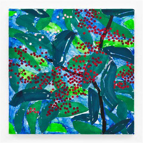 HEIMO ZOBERNIG. Sin título /Untitled (HZ 2018-062). 100 x 100 cm. Acrílico sobre lienzo / Acrylic on canvas. 2018