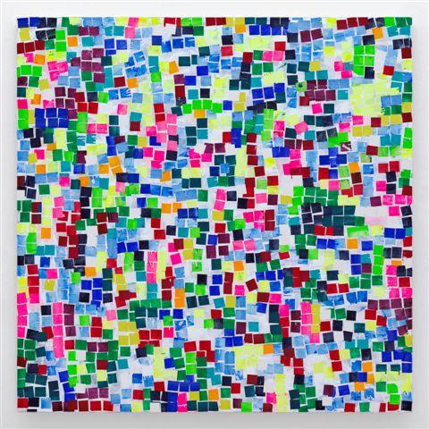 HEIMO ZOBERNIG. Sin título /Untitled (HZ 2019-054). 200 x 200 cm. Acrílico sobre lienzo / Acrylic on canvas. 2019