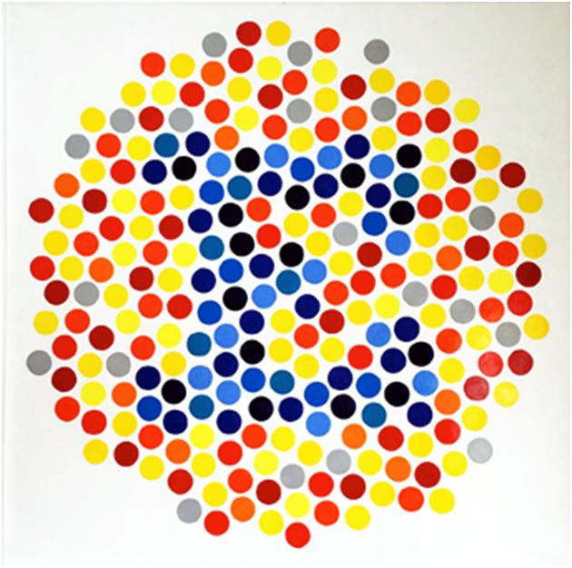 """Rogelio López Cuenca """"Délire de lire"""" (VI), 162 x 162 cm, Óleo sobre lienzo / Oil on canvas, 2019."""