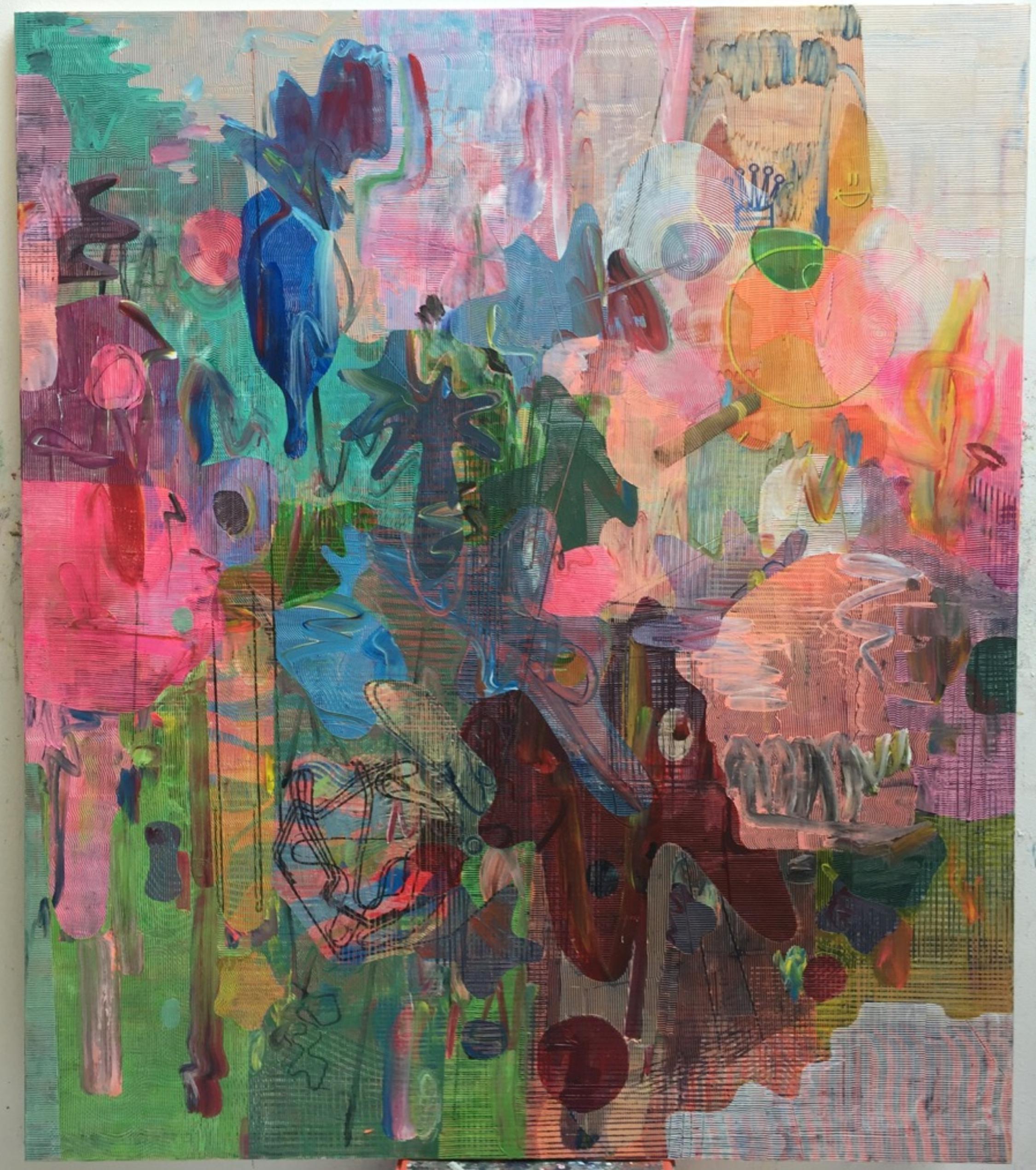 """Untitled"" 230 x 200 cm. Acrílico, sobre papel sobre tela, 2021"