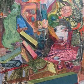 """Untitled"" 200 x 160 cm. Acrílico, sobre papel sobre tela 2021"